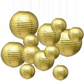 Nylon lampion goud 35 cm