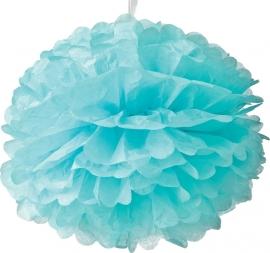 Licht blauwe PomPom 35 cm