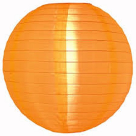 5 x Lampion orange de nylon 35 cm