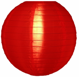 Nylon lampion rood 25 cm