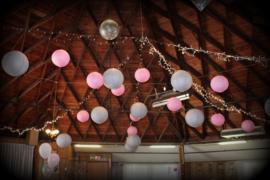 5 x Lampion roze 25 cm
