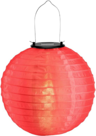 5 x Solar lampion rond rood 35 cm (zonne-energie)