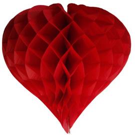 Honeycomb / Wabenball Herz rot 35 cm