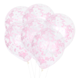 10 x Confetti ballon roze