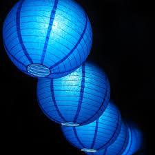5 x Nylon lampion blauw 45 cm