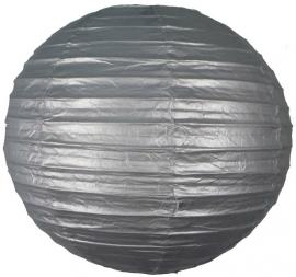 Lampion zilver 35 cm