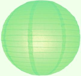 5 x Lampion licht groen (kleur 1) 25 cm