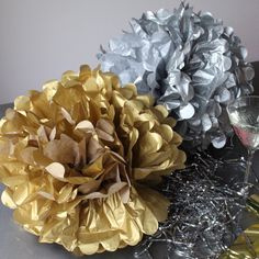 Gouden PomPom 35 cm