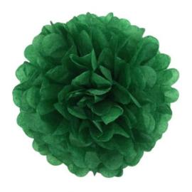 Pompon vert foncé 35 cm