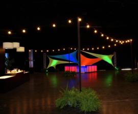 Verlengset LED lichtsnoer - multicolor - 10 meter