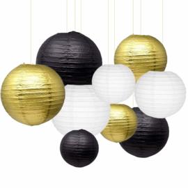 Brandvertragende lampion zwart 75 cm - brandwerend