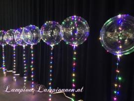 4 Stück LED Ballon XXL 60 cm - inkl. Heliumtank