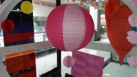 Licht roze / roze 35 cm
