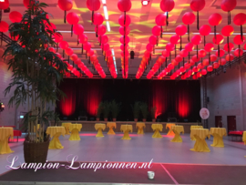 Brandvertragende lampion rood 75 cm - brandwerend