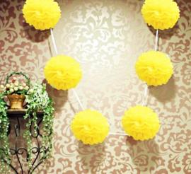 5 x Gele PomPom 35 cm
