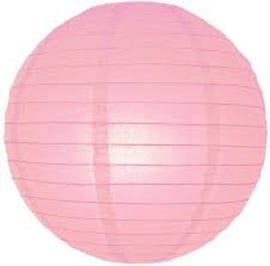 Brandvertragende lampion licht roze 75 cm - brandwerend