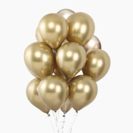 10 x metallic ballon goud