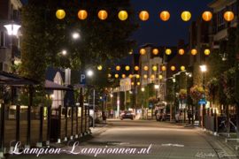 Gelb Lampion Nylon 35 cm