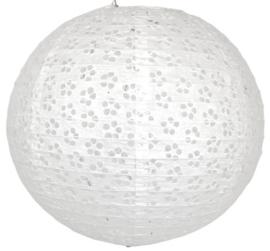 5 x Eyelet lampion wit 25 cm