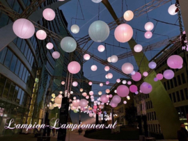 5 x Brandvertragende lampion wit 120 cm