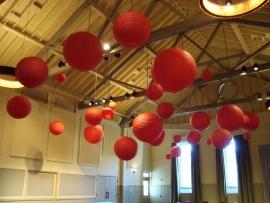 Lampion rood 45 cm