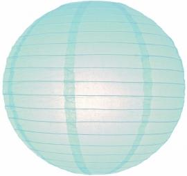 Lampion licht blauw 25 cm