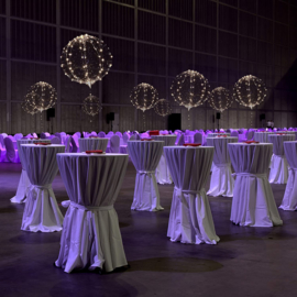 10 stuks LED Ballon XL - warm wit - 40 cm