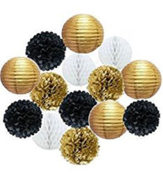 Kombination-Paket GOLD - weiß - gold - schwarz