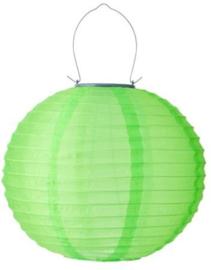 Solar lampion rond groen 35 cm (zonne-energie)