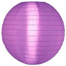 Lampion violet de nylon 35 cm