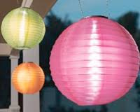 Solar lampion rond roze 35 cm (zonne-energie)