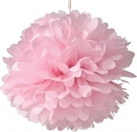 Pompon rose clair 35 cm