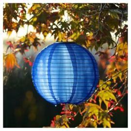 5 x Nylon lampion donker blauw 25 cm