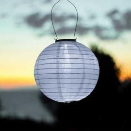 10 x Solar lampion rond wit 35 cm (zonne-energie)