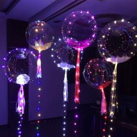 10 pièces  LED Ballon XL 40 cm - incl Réservoir Hélium