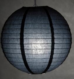 Lampion zwart 35 cm
