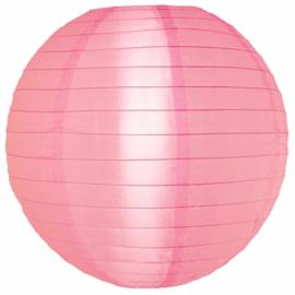 Nylon lampion roze 25 cm