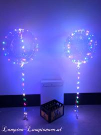 4 stuks LED Ballon XXL 60 cm - multicolor - incl Helium tank