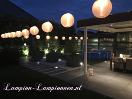 Nylon lampion wit 35 cm