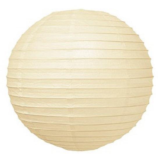 Lampion crème wit 35 cm