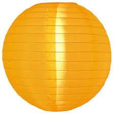 Nylon lampion oker geel 35 cm