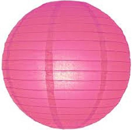 Lampion fuchsia roze 35 cm