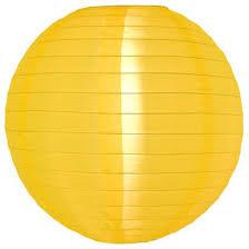 Nylon lampion geel 25 cm