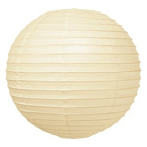 Lampion crème wit 25 cm