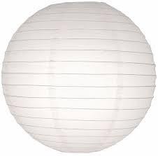 10 stuks witte lampion 25 cm