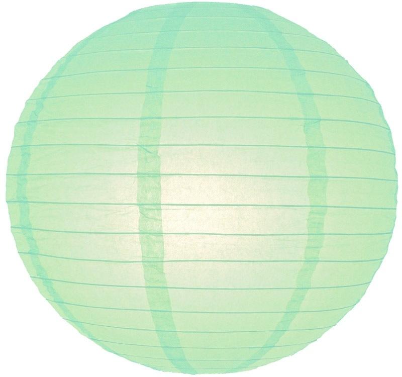 Lampion mint groen 25 cm