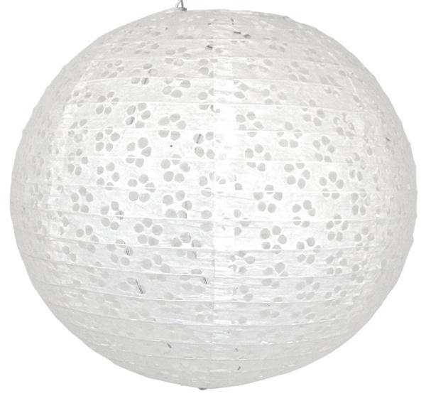 Lampion eyelet weiß 25 cm