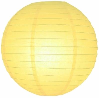 Lampion licht geel 45 cm