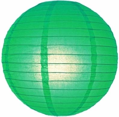 Lampion vert 35 cm