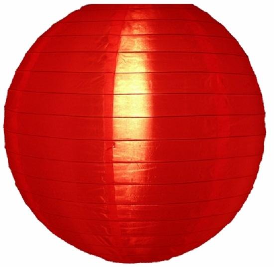 5 stuks Nylon lampion rood 35 cm